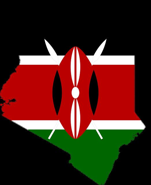 флаг и карта Кении