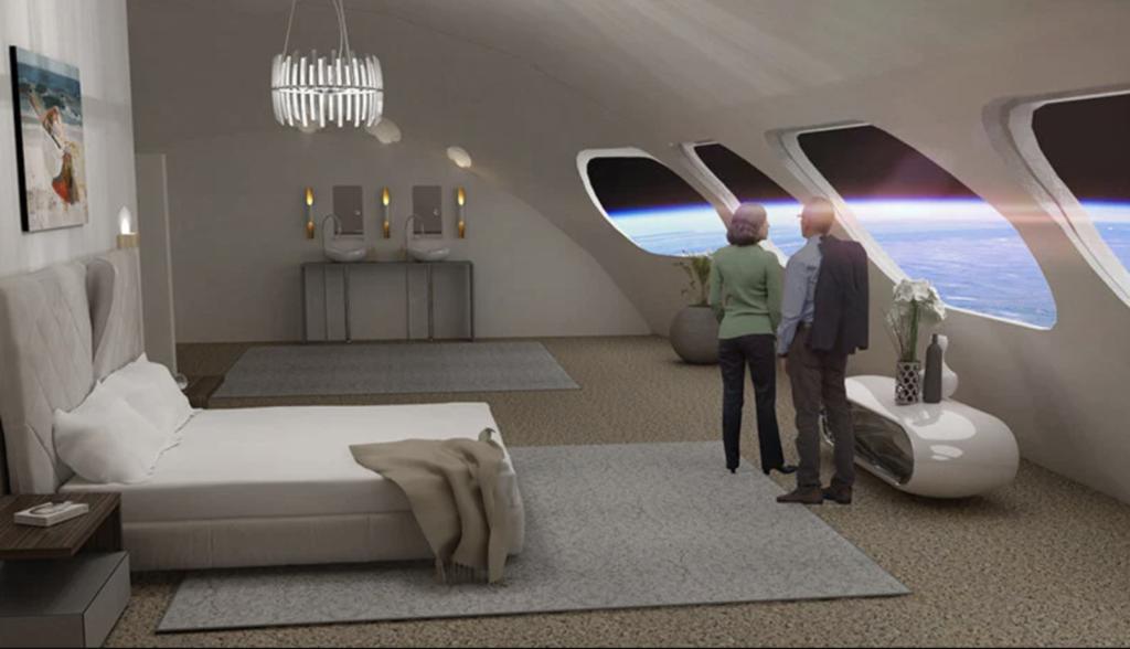 номер в космическом отеле Voyager Station