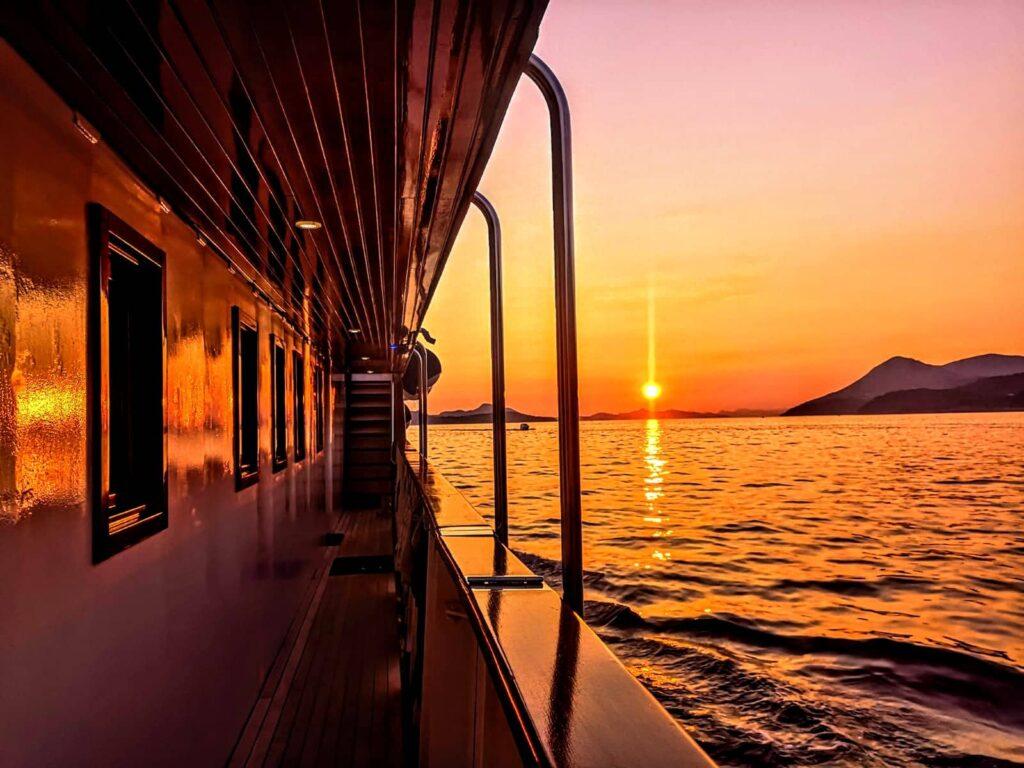 закат на острове Шипан
