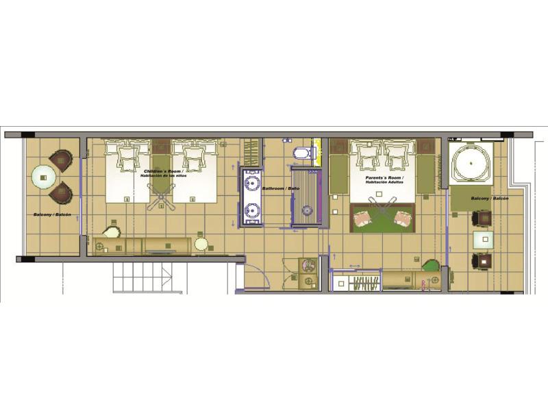семейный номер Family Room в отеле Barcelo Bavaro Palace Deluxe