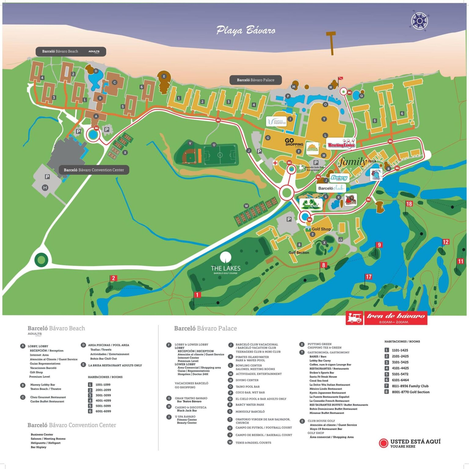 карта комплекса Barcelo Grand Resort