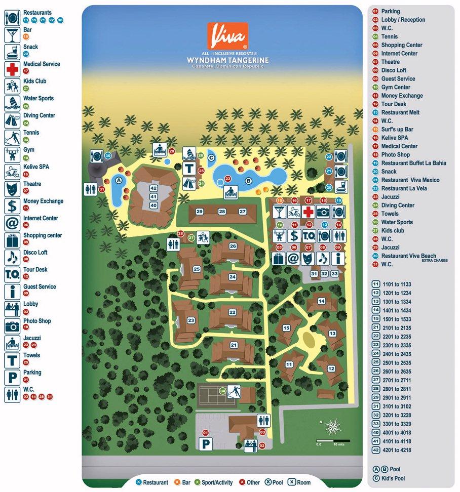 Viva Wyndham Tangerine map